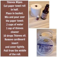 Thieves all natural hand wipes to clean and disinfect your home, safely! | young living essential oils | www.crazyforcoconuts.com