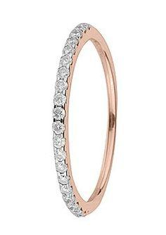 18ct Rose Gold 0.20ct Diamond Eternity Ring