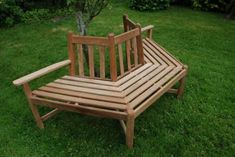 half bench around tree - Google