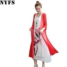 e40ecaf6334 ... платье чернильная живопись женское платье из двух частей платье  повседневное большой размер свободный женский vestidos халат платье купить  на AliExpress