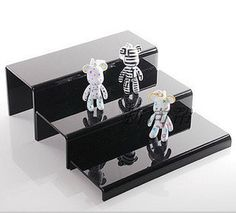 Set of three acrylic desktop U shaped display stand base jewelry cosmetic display rack shoes step holder miniature toy collect – Jewelry & Accessories Plastic Display Stands, Acrylic Display Stands, Shoe Rack Box, Cheap Jewelry, Jewelry Accessories, Cosmetic Display, Black Furniture, Jewelry Packaging, Plexus Products