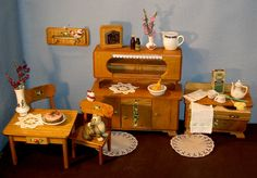 Puppenküche Möbel 1930? alt **Büffet Aufwaschtisch von Seide,Baer und mehr auf DaWanda.com