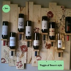 make with Hickory to match my cabinets. Rustic Wine Cabinet, Homemade Wine Rack, Wine Gadgets, Wine Rack Design, Wine Cabinets, Bar Drinks, Vines, Interior Decorating, About Me Blog