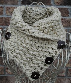 Classic neckwarmer with buttons  Made to order by lovindesigns, $24.00