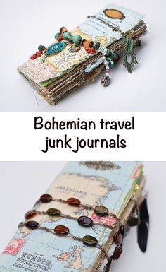 Super dreamy travel journals to store the most exciting memories from your trips :) traveljournal junkjournal bohemian 856880266584381550 Handmade Journals, Handmade Books, Handmade Crafts, Handmade Rugs, Memory Journal, Book Journal, Fabric Journals, Art Journals, Bookbinding Tutorial