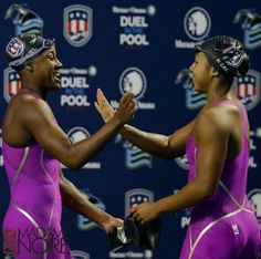 Watch the video History Made as Two African American Women Make the Team Together on Yahoo Sports . Summer Sanders and Pat Forde look how Lia Neal and Simone Manuel heading to Rio is very exciting for the diversity and future of USA Swimming. Usa Olympics, Summer Olympics, Simone Manuel, Olympic Trials, Making The Team, Black History Facts, Swim Team, Queen, African American History