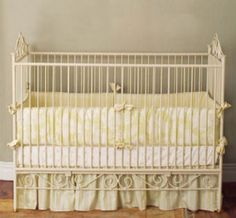 Casablanca Premiere Iron Crib In Antique White and Nursery Necessities in Interior Design Guide : All Baby Cribs at PoshTots Chic Nursery, Baby Nursery Bedding, Nursery Room, Nursery Ideas, Room Ideas, White Baby Cribs, Iron Crib, Interior Design Guide, Baby Furniture