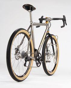 """Jan Heine's Titanium All-Road // @compasscycle"""