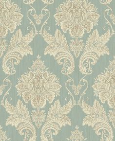Medium Damask from The Kashmir Collection by Pelican Prints Victorian Wallpaper, Damask Wallpaper, Home Wallpaper, Wallpaper Backgrounds, Wallpapers, Victorian Fabric, Wall Decor Design, Curtain Patterns, Decoration