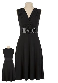 I own this dress only it's grayish with a black belt! It's so comfortable!