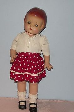 """Gorgeous Composition Effenbee Orig""""Patsy Ann Doll"""" in Orig Outfit Circa 1929"""