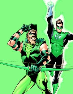 Hal Jordan and Oliver Queen in Green Lantern: Revenge of the Green Lanterns
