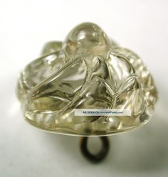 Antique Charmstring Glass Button Swirled Crystal Candy Mold W/ Swirl Back.Circa…