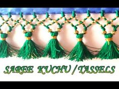 Saree kuchu Making with small beeds /New kuchu design making//Design Saree Kuchu New Designs, Saree Tassels Designs, Beadwork Designs, Saree Border, Designer Blouse Patterns, Beautiful Rangoli Designs, Sewing Stitches, Saree Styles, Sewing Clothes