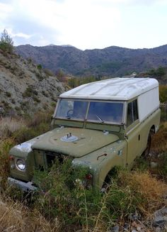 Ran out of petrol 9 years ago and couldn't find my Rover in Action when I went back. Found it today believe it or not but had no petrol with me this time either. Abandoned Cars, Abandoned Places, Abandoned Vehicles, Land Rover Series 3, Adventure Car, Best 4x4, Land Rover Defender, Old Trucks, Range Rover