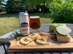 The Grove Brewhouse O'Donavan's Amber Lager with Parmesan Crisps and Pears. Parmesan Crisps, Essex County, Wineries, Food Network Recipes, Craft Beer, Brewery, Pears, Apps, Cheese