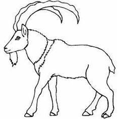 Walking Mountain Goat coloring page Easter Coloring Pages, Printable Coloring Pages, Elk Drawing, Dragon Horse, Flags Of The World, Us Map, Us History, Illuminated Letters, Bible Stories