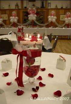 Red Wedding Centerpiece June 21 2017 Pinterest And Centerpieces