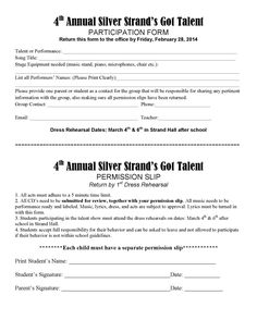 Silver Strand Elementary Talent Show Permission Slip Deadline Pta Programs, School Programs, Elementary Music, Elementary Schools, Student Council, Talent Show, Music Classroom, Music Education, Resume Templates