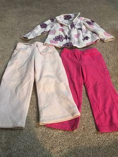 9ea5655bce9 Toddler Girl Pants fleece Top Lot Of 3 Size 2t  fashion  clothing