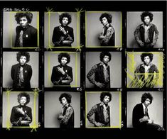 Jimi Hendrix contact sheet by Gered Mankowitz, 1967.