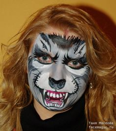 Wolf. Face paint by Tanya Maslova.