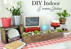 DIY Indoor S'mores S
