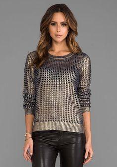 BB Dakota Bardot Metallic Printed Sweater in Navy/Gold Trendy Fashion, Fashion Outfits, Womens Fashion, Bardot, Gold Sweater, Revolve Clothing, Sweater Outfits, Dress To Impress, Autumn Winter Fashion