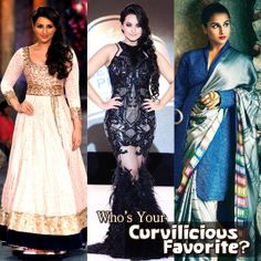 Call them voluptuous or curvy…but these Bollywood actresses have broken all fads related to the so-called 'size-zero' by flaunting their curvaceousness with élan. Who's your favorite amongst these three beauties? Bollywood Gossip, Bollywood News, Bollywood Actress, Fashion Quiz, New Freedom, Top Film, Size Zero, Film Industry, Curves