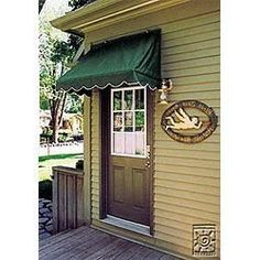 Replacement Cover for Traditional Door Canopy - Sand - Size: 4' by Sunsational Products. $139.83. mfr: Sunsational Products Door Canopy in a Box, Traditional Door Canopy Replacement Cover features three sided scalloped edges, white piping, Sunsational Select fabric, one of the highest quality Marine Grade, mildew resistant, PU coated, 100% DTY solution dyed acrylic finished fabric with Teflon, on the market today. The Traditional Door Canopy Replacement Cover allow...