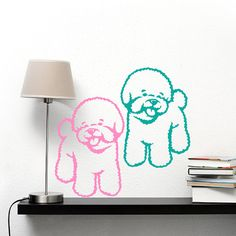 dog decal bichon frise vinyl sticker decal good for by psiakrew - Frise Vinyle