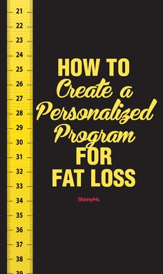 How to Create a Personalized Program for Fat Loss #fatloss #resolution #skinnyms
