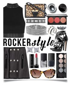 """Rocker Chic"" by ittie-kittie ❤ liked on Polyvore featuring Alexander Wang, Topshop, Alexander McQueen, Loewe, Oliver Goldsmith, Witchery, Dsquared2, Smashbox, Marc Jacobs and NARS Cosmetics"