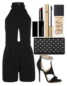 """""""Untitled#1517"""" by mihai-theodora ❤ liked on Polyvore featuring Topshop, Yves Saint Laurent, Jimmy Choo, Witchery, D&G and NARS Cosmetics"""