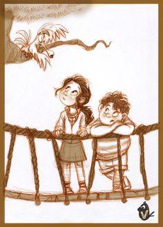 Rope-bridge stories