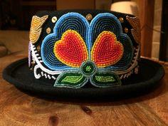 Ojibwe floral hat by Adam Avery