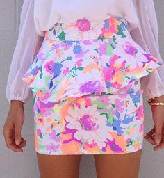 Bright peplum skirt. Bold