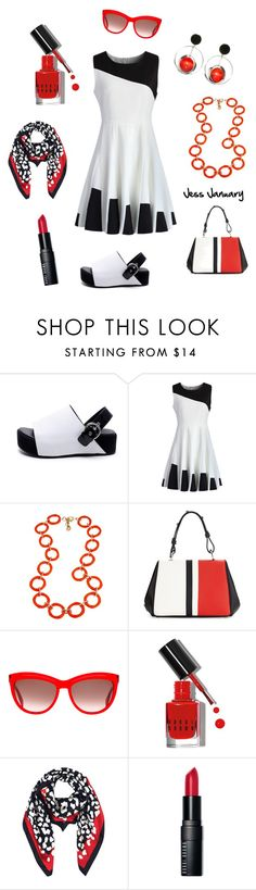 """""""Untitled #632"""" by jessjanuary ❤ liked on Polyvore featuring Chicwish, Fornash, Prada, Alexander McQueen, Bobbi Brown Cosmetics, Hobbs and Marni"""