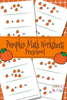Pumpkin Math Worksheets for Preschool - Itsy Bitsy Fun