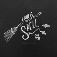 Hand Lettered Chalkboard Print - I Put A Spell On You - Digital File, - Hocus Pocus Print wallpaper horizontal Hand Lettered Chalkboard Print - I Put A Spell On You - Digital File, - Hocus Pocus Print - Fall Print - Halloween Print Halloween Chalkboard Art, Thanksgiving Chalkboard, Chalkboard Doodles, Chalkboard Art Quotes, Chalkboard Print, Chalkboard Lettering, Chalkboard Designs, Chalkboard Ideas, Fall Chalkboard Art