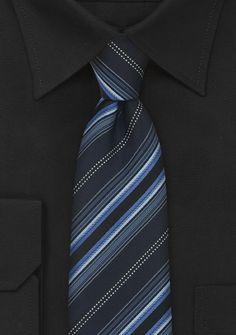 Krawatte Streifen Blau Schwarz