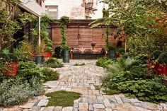 Landscape designer Miranda Brooks conceived the garden of this Manhattan townhouse.