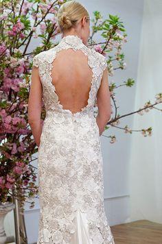 Peek A Boo Back on this amazing wedding dress