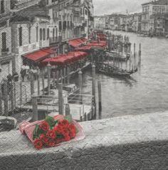 Pays : Serviette papier Venise et gondole 33 cm X 33 cm 3 plis http://fournitures-loisirs.les-creatifs.com/serviettes.php?refer=Venise-et-gondole pour la décoration