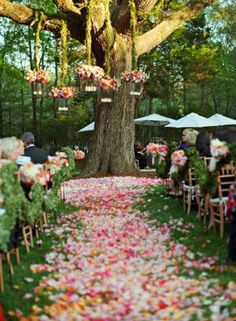 Love the Hanging Lanterns with Flowers