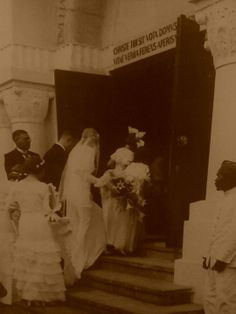 My grandparents entering Bethel Church Bandoeng on their wedding day in 1935 ~MaryOuma~