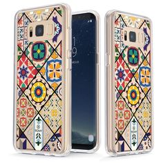 Colorful Portuguese Diagonal Tiles [v2] Slim Protective Case for Galaxy S8 Plus