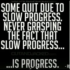 Progress is progress!
