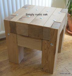 Garden Furniture Bolts rustic oak long plank garden bench with stainless steel bolts