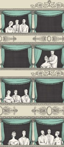Fornasetti II Teatro wallpaper by Cole & Son  Just previewed!